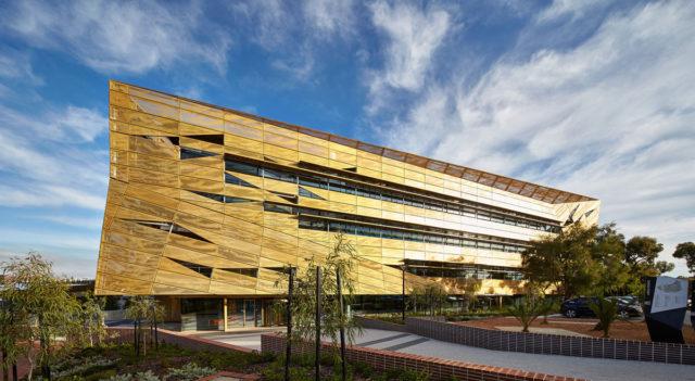 Ngoolark Student Services Building ECU JCY Architects and Urban Designers Perth Australia 2015 Alucobond Aluminum Composite Spectra Lumiflon FEVE Resin