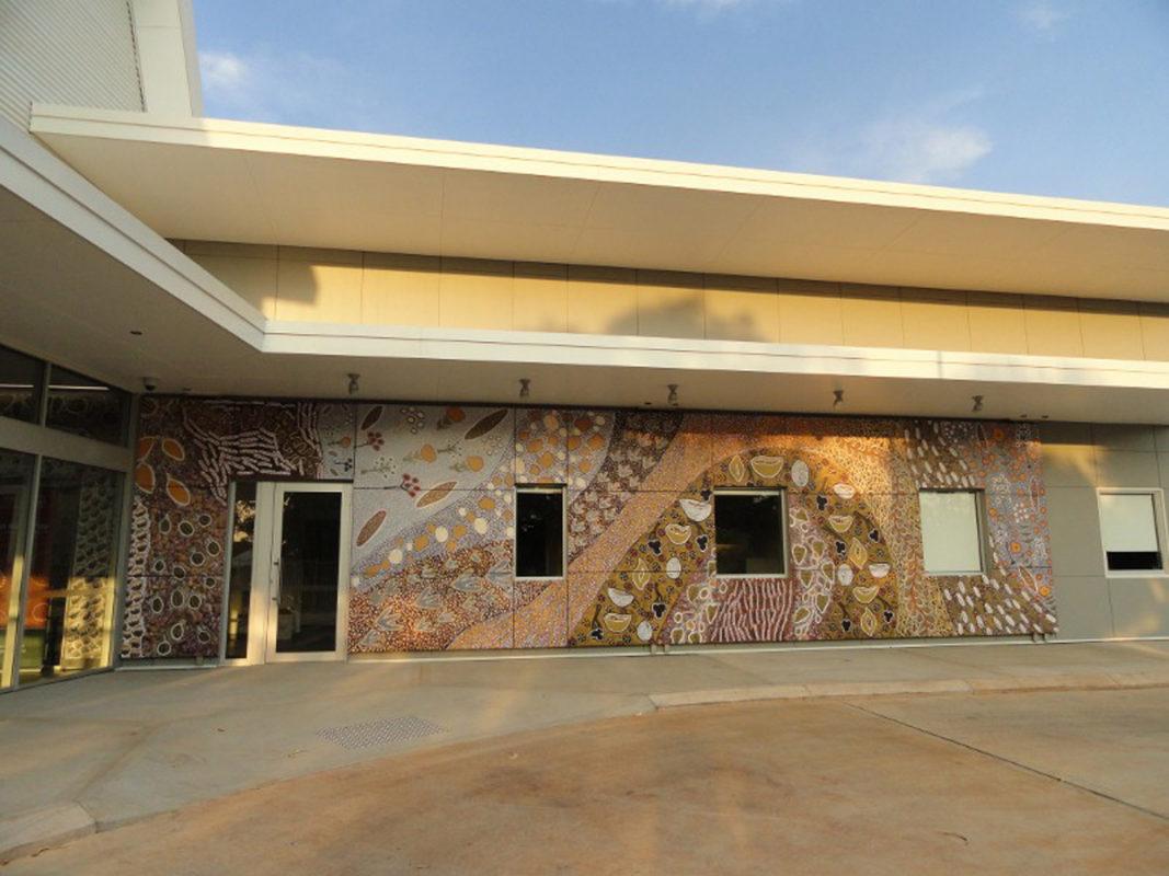 Vitreflon Helps Preserve Hospital's Aboriginal Art