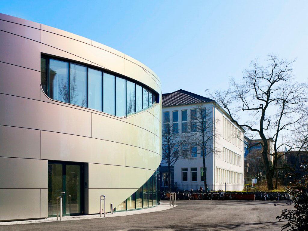 Pelizaeus Reismann Canteen, Paderborn, Matern Waschle Architekten, Alucobond, Spectra Sakura