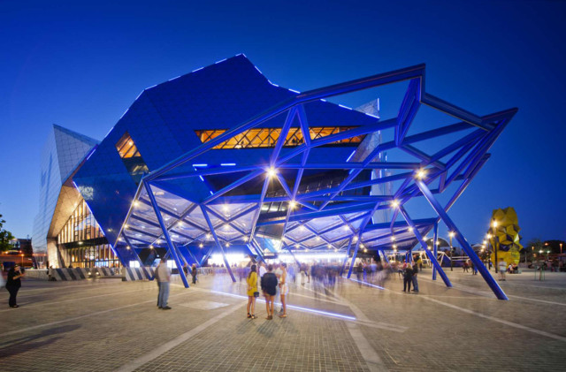 Perth Arena, Cameron Chisholm Nicol, Lumiflon, FEVE Resin