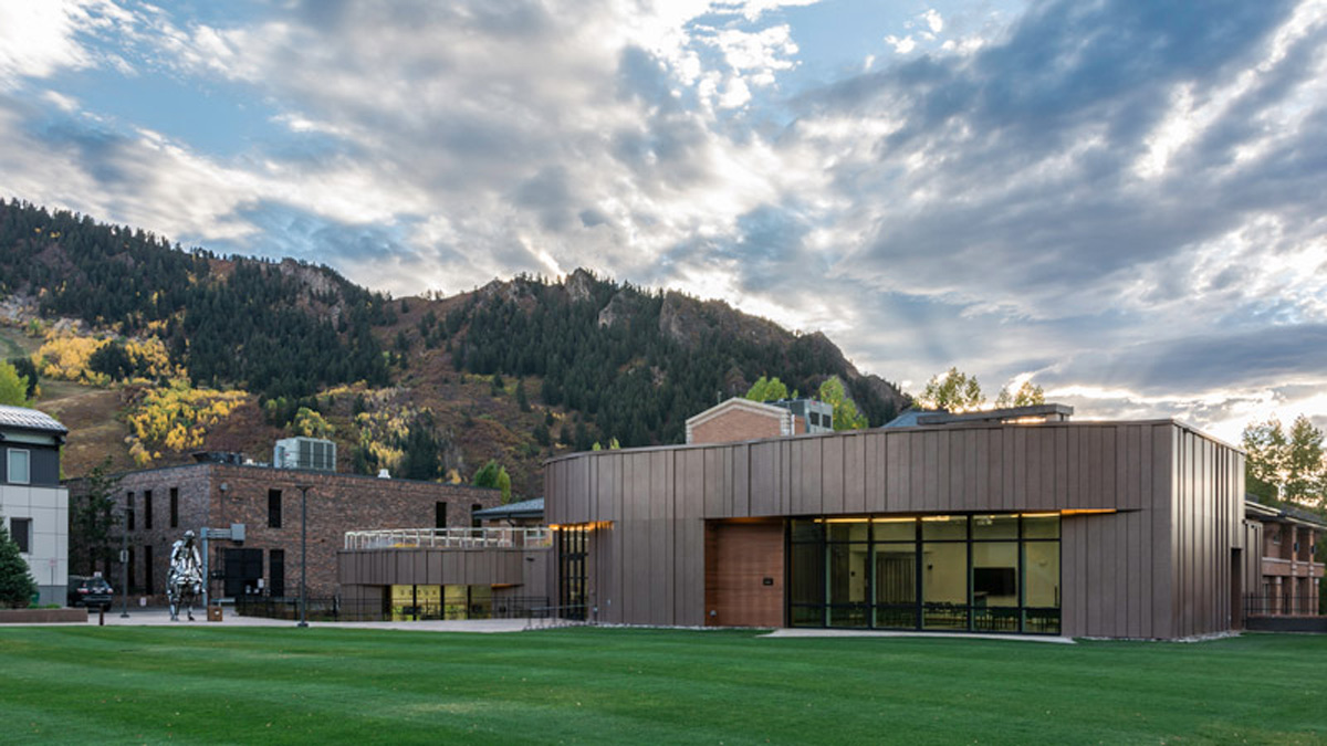 Pitkin County Library Aspen Colorado Snowdon and Hopkins Architects Lumiflon FEVE Resin Pure Freeform