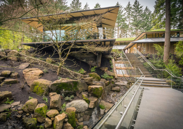 Portland Japanese Garden Oregon Kengo Kuma Pure Freeform Lumiflon FEVE Resin