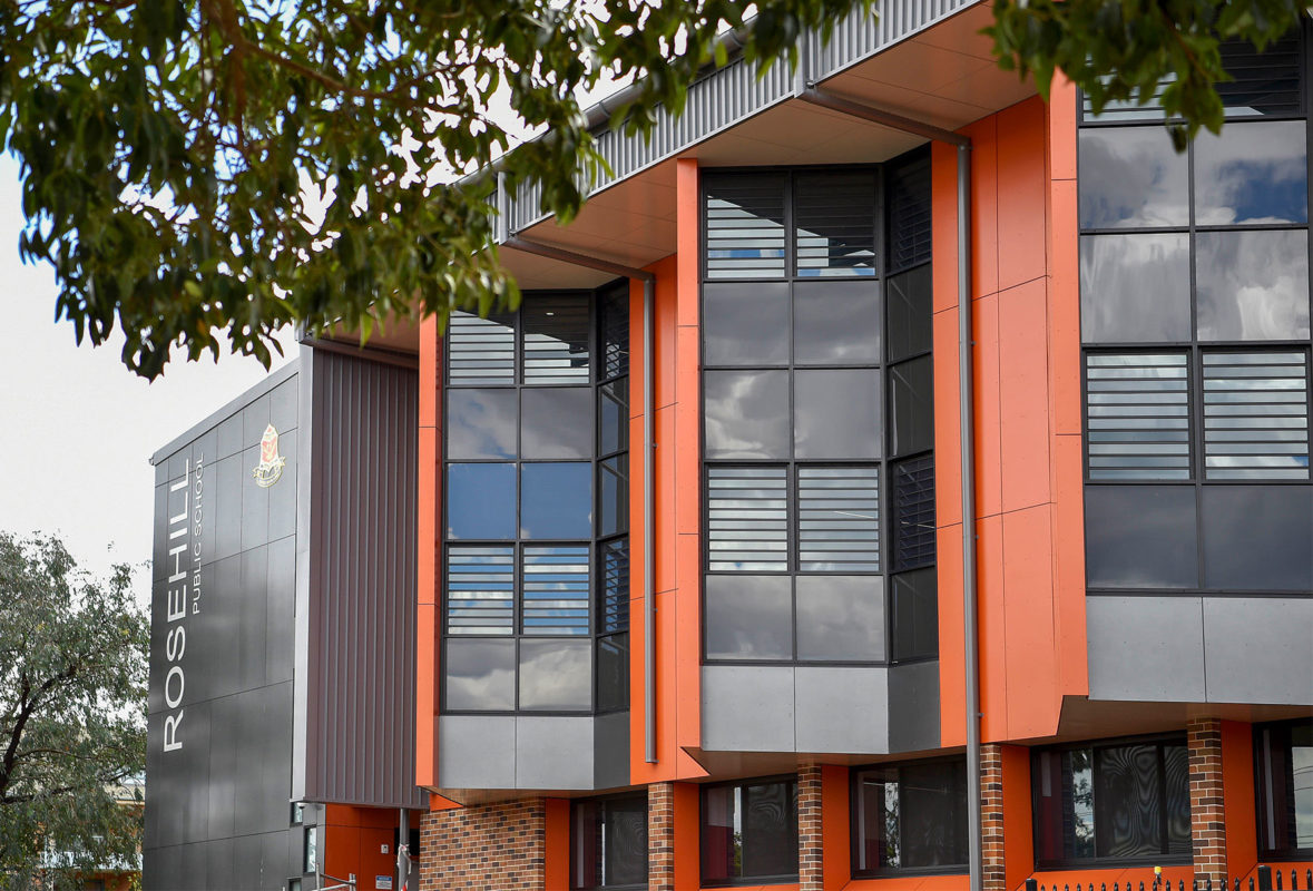 Rosehill Public School, NSW, General Contractor Grindley, Conrad Gargett Architects, Vitragroup, Vitrapanel