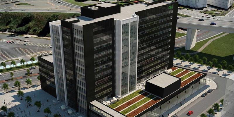 SSQ Tower, Akzo Nobel, Symotech, Lumiflon FEVE Resins, Fluoropolymer Coatings, Architecture, Coatings