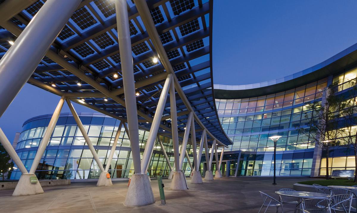 Salt Lake City, Public Safety Building, GSBS Architects, LEED Platinum, Valspar, ALPOLIC, Lumiflon