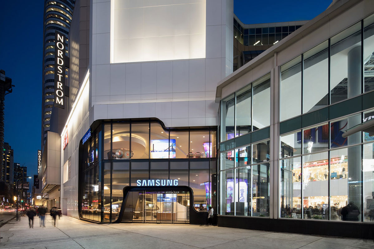 Samsung Experience Store Toronto Canada Quadrangle ALPOLIC ACM Lumiflon FEVE Resin