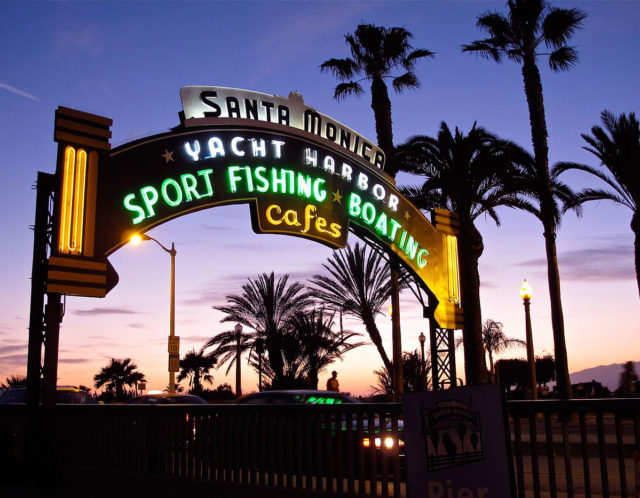 Santa Monica Pier Sign California Tnemec Fluoronar Lumiflon FEVE Resin
