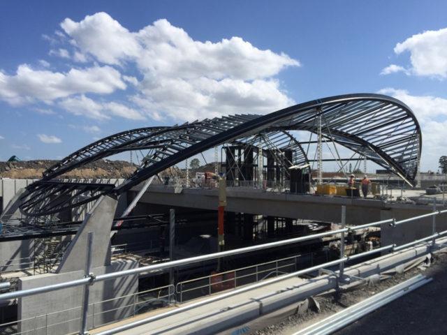 Sydney Metro Northwest Australia Hassell SL Steel AI Coatings Infrastructure Lumiflon FEVE Resin