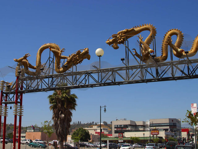 The Chinatown Gateway Los Angeles California Tnemec Fluoronar Fluoropolymer Lumiflon FEVE Resin