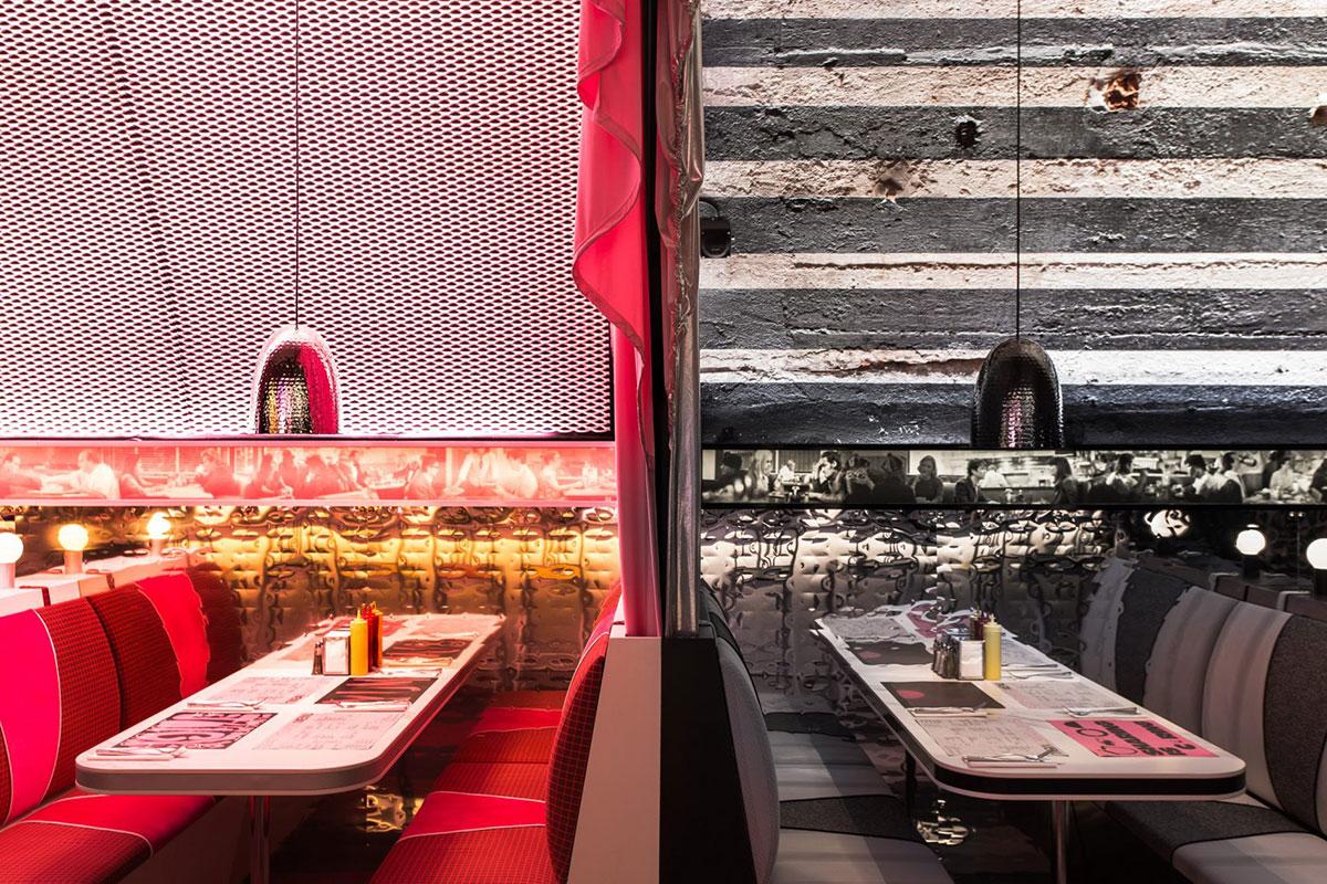 The Diner Milan Design Week Rockwell Group Pure Freeform Aluminum Panels Lumiflon FEVE Resin