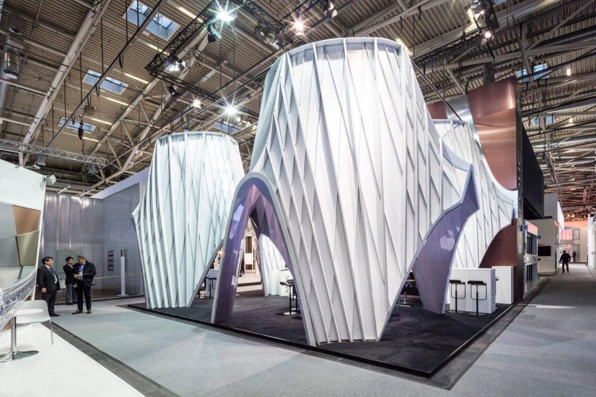 UNStudio, ALPOLIC Materials, BAU Germany, Tradeshow Booth 2017, Prismatic, Lumiflon FEVE Resin, Photography Laurian Ghinitoiu