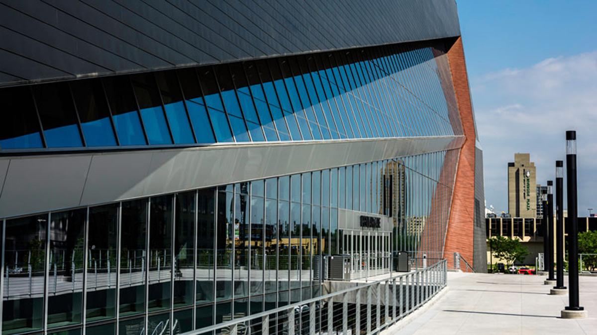 US Bank Stadium HKS Architects MG McGrath Pure Freeform Lumiflon FEVE Resin