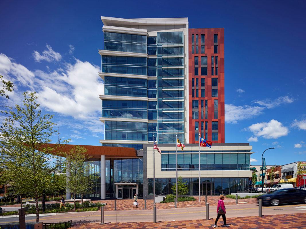 Wheaton Town Center, Gensler, Clark Construction, Pure Freeform, Lumiflon, Photography Thomas Holdsworth