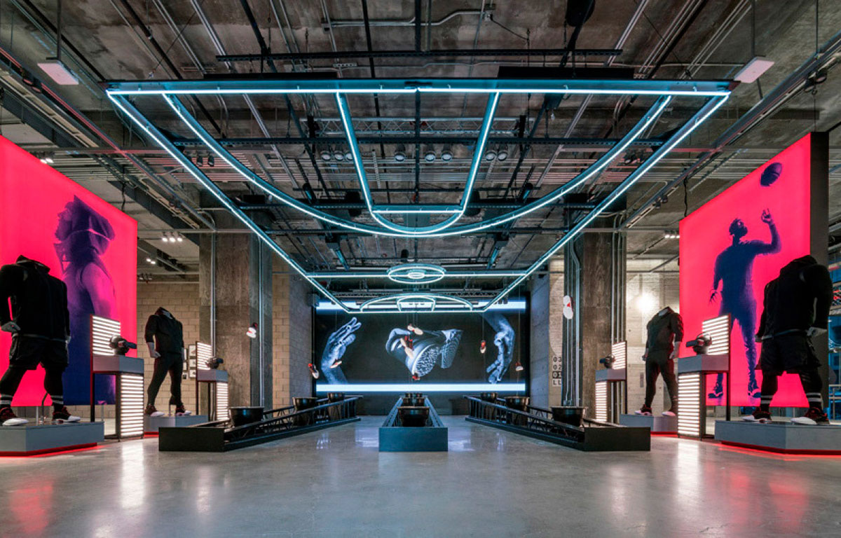 adidas nyc flagship store gentler architects pure freeform lumiflon feve resin