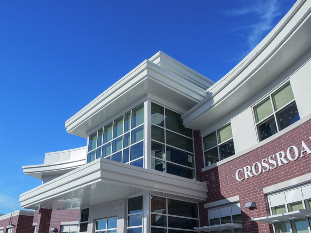 crossroads school norfolk virginia acm alpolic lumiflon feve resin mosley architects