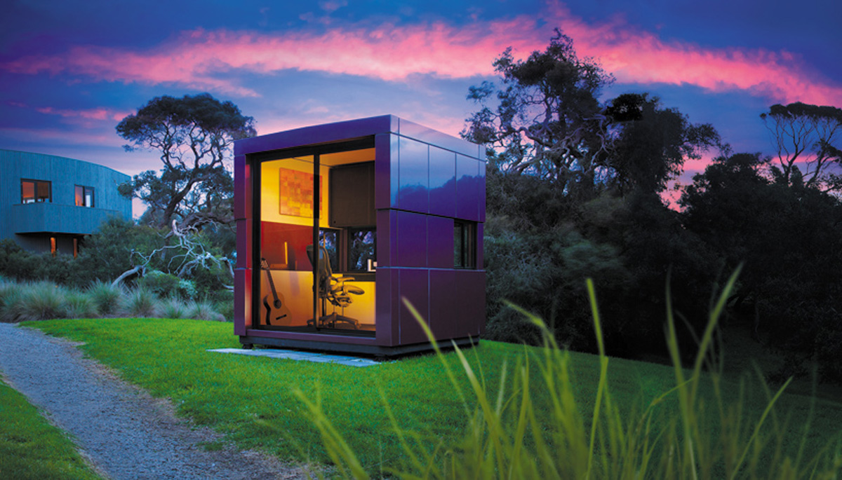ColorChanging Office Pod Shines With Lumiflon FEVE Resin Topcoat  E